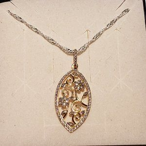 Jewelry - Diamond Accent pendant in 14K YG over 925 w/chain